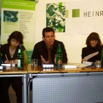 Writer in Residence Program at the Heinrich Böll Haus-Langebroich. Reading at the headquarters of the Heinrich Böll Foundation. Berlin, Germany, May 2006.