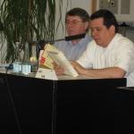 "Münstersche Lateinamerika – Tage. In a reading of his novel ""Las palabras y los muertos,"" Franz Hitze Haus Academy. Münster, Germany, May 2008"
