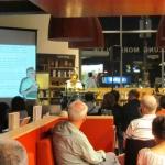 """Reading excerpts from his book """"Havana Babylon"""" in Moritzplatz Bookshop. Berlin, Germany, August 2011."""