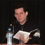 "Latein Amerika Woche (Latin American Week). Reading his novel ""Las palabras y los muertos"" in its German edition. Nuremberg, Germany, January 2008."