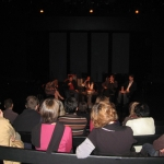 """""""Belles Latinas"""" Festival. In a panel of discussion at the Opera, Lyon. France, October 2010."""