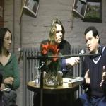 "Reading of ""Habana Babilonia"" in Berlin, organized by the German Filmmaker Florian Borchmeyer (La Cubanísima Records) and Margarita Ruby (La Rayuela Bookshop). Berlin, Germany, February, 2009."