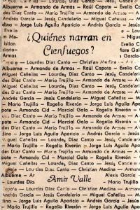 ¿Quiénes narran en Cienfuegos?, ensayos, Amir Valle