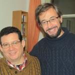 Con el escritor español José Ramón Gómez Cabezas en Berlín, enero de 2016.