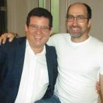 Con el escritor cubano Ernesto Ortiz en Ginebra, Suiza, en junio de 2016.