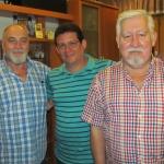 En Guardamar del Segura, España, con los escritores Juan Salvador Matador y Javier Bueno, agosto de 2015.