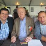 En el Festival Internacional de Literatura de Berlín, junto al chileno Jorge Edwards y el alemán Marko Martin, septiembre 2015.