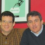 En Madrid, con el escritor cubano Ladislao Aguado, enero 2015.