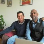 En su casa en Berlín, con el director y documentalista cubano Ricardo Bacallao, febrero 2015.