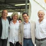 """En Ravena, de izquierda a derecha: el escritor español Juan Madrid, María Cristina Capanni, Amir Valle y el escritor italiano Nevio Galeati, durante el Festival de Literatura Negra """"GialloLuna NeroNotte"""", Italia, septiembre 2012."""