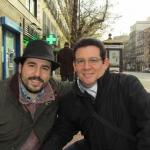 Con el escritor español Lorenzo Rodríguez Garrido en Madrid, diciembre 2014.