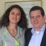"""Con la ensayista Nelly Rajaonarivelo, Coloquio """"Ecrire/Decrire La Havane"""", Universidad de Niza, Francia, mayo 2012."""