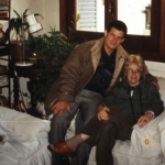 Con la argentina Susana Itzcovich, Buenos Aires, Argentina, 2001.