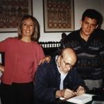 Con los argentinos Abelardo Castillo y Sylvia Iparraguirre, Buenos Aires, Argentina, 2001.
