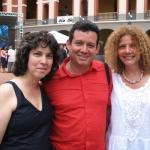 Festival de la Palabra: Con las cubanas Achy Obejas (izquierda) y Karla Suárez. Puerto Rico, mayo 2010.