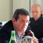 En el Encuentro Anual de Becarios del PEN Club alemán, Allianz Forum Berlín, 20 de febrero de 2015.