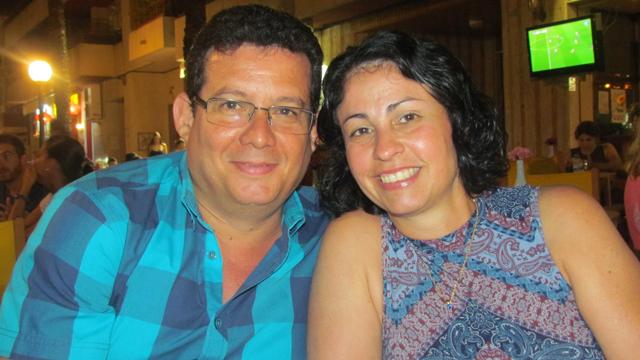 Con mi esposa Berta en Guardamar del Segura, agosto de 2016.